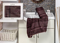 Шикарный шоколадный набор бамбуковых полотенец Cestepe Турция
