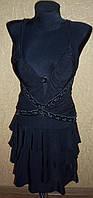 Красивый женский черный сарафан
