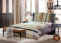 Комплект постельного белья Беж в полоску бязь люкс 100% хлопок бежевый