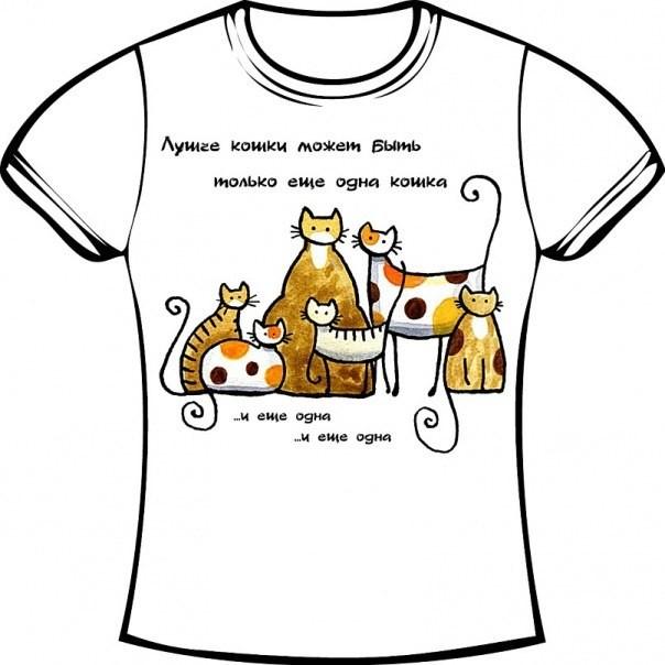 печать на футболках радость