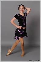 Костюм для танцев на девочку «Павлин» блуза №78, юбка №77
