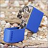 Бензиновая зажигалка Зиппо / Zippo Royal Blue Matte Logo 229 ZL