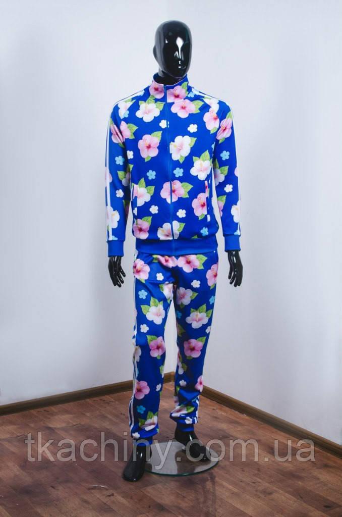 костюм адидас с цветами фото