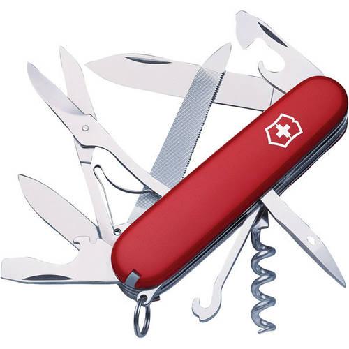 Складной удобный нож Victorinox Mountaineer 13743 красный
