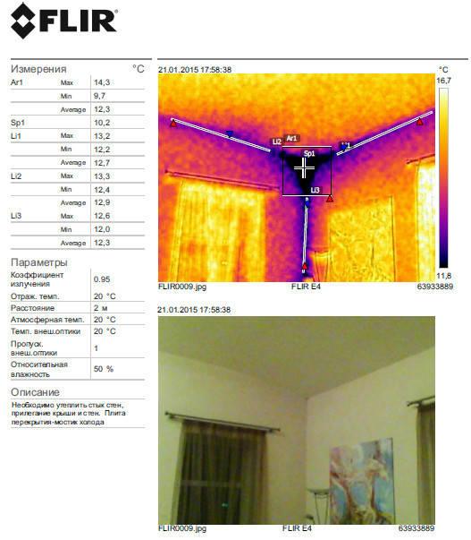 Тепловизионное обследование 2-х этажного дома Харьков, январь 2015