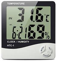Термометр многофункциональный Sinometer HTC-2 гигрометр, часы, будильник, календарь,с выносным датчиком