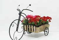 Кованная подставка для цветов Велосипед 2 большой