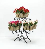 Кованная подставка для цветов Лотос 3 Кантри