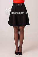 Женская молодежная юбка -полусолнце черного цвета. Риана