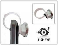 Объектив ФИШАЙ (клипса-дуга). ЛИНЗА FishEye 180° для смартфонов. Цвет: серебристый.