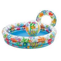 Надувной бассейн Intex 59469 с мячом и кругом