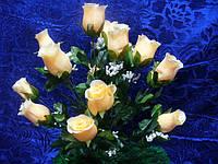 Букет роза с кашкой - 16 голов(10 шт в уп)