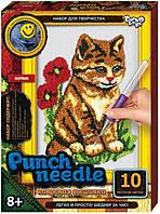 """Детский набор """"Punch needle"""" ковровая вышивка """"Котенок"""""""