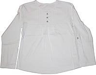 Блуза белая с пуговками для девочки, рост 122 см, ТМ Робинзон