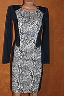 Изысканное трикотажное платье, р. S - 42 можно 44