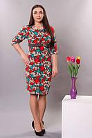 Оригинальное женское платье с болеро в цветочный принт