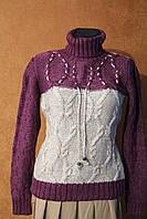 Шикарный теплый свитер под горло, Турция, р.46-50