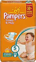 Памперсы для детей Pampers Sleep and Play 5/58 (11-18кг.) Jumbo Pack