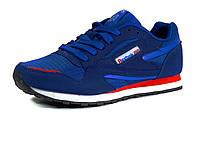 Кроссовки Reebok classic мужские, комбинированные, синие/ белая подошва, фото 1