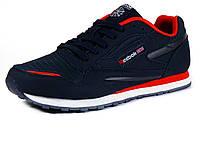 Кроссовки Reebok classic мужские, комбинированные, темно - синие/ красные/ белая подошва, фото 1