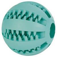 """**Игрушка """"Мяч бейсбольный с мятой"""" 7см для собак, резина"""