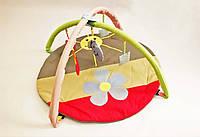 """Игровой коврик-манеж для новорожденных """"Ромашка цветная""""."""