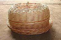 Хлебница овальная из лозы