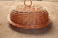 Хлебница овальная из цельной лозы
