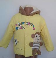 Качественная, яркая, веселая курточка для деток 1-3 лет, фото 1