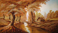 Картина из янтаря. Пейзаж 12