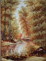 Картина из янтаря. Пейзаж 23