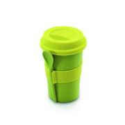 Cook-n-Co Кружка кофейная с ложкой и крышкой Bamboo & melamine 250мл 2800055
