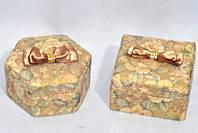 Шкатулка для украшений подарок тканевая разные расцветки