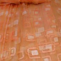 Ткань для тюли, органза, гардина персиковый