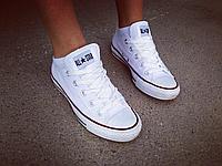 Конверсы низкие белые Converse копия
