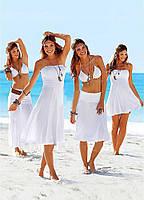 Платье  трансформер, пляжное платье, туника женская, парео, пляжне плаття