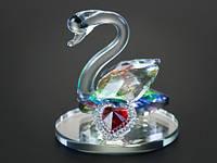 Фигурка хрустальная Лебедь и сердце