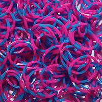 Резиночки для плетения браслетов Rainbow Loom Bands - двухцветный малиновый и синий