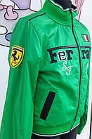 Ветровка для мальчика зеленого цвета под бренд