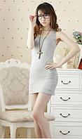Платье майка туника Рretty светло - серая