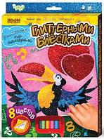"Раскраска глиттером по номерам Danko toys ""Птичка"""