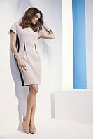 Летнее женское платье из вискозы с коротким рукавом. Модель NS18  Sunwear