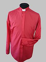 Рубашка для священников  красного цвета с длинным рукавом