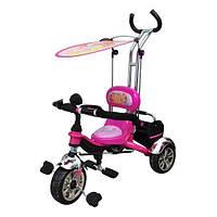 Велосипед детский с родительской ручкой и крышей  (M 5339)