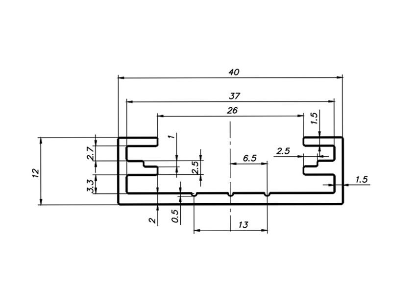 Профиль для светодиодной ленты накладной 12х40, фото 5