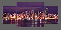 Картина на стекле Ночной Вашингтон 160*70 см
