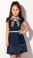 Школьное синее платье для девочек р.122