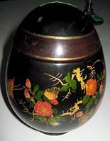 Японская деревянная шкатулка  виде яйца
