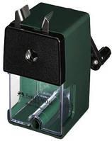 Точилка офисная механическая с крепежом зеленая