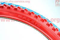 """Покрышки для велосипедов 26""""х1,95 с камерой шипованная цветная 1040N, МТВ"""